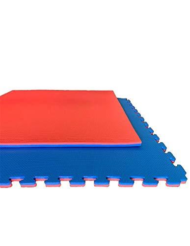 Jardin202 Espesor: 20mm - Lote x5 losetas Tatami Puzzle - Rojo/Azul