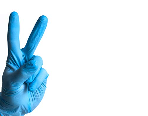 Large Size Nitrile Disposable Gloves, Powder Free,Latex Free, 100 Piece, Blue.