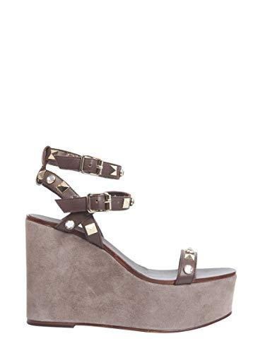 Ash Luxury Fashion Femme TOUCH01 Marron Cuir Chaussures Compensées | Saison Outlet