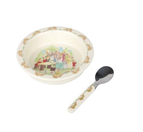 The Sales Partnership - GREAT GIZMOS Bunnykins Feeding Bowl and Spoon Set (Running Bunnies)