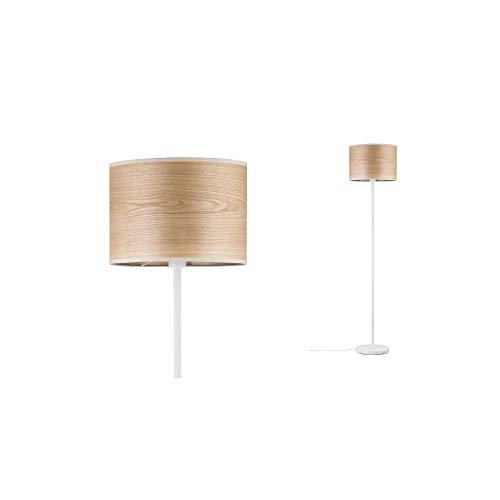 Paulmann 79637 Neordic Neta Stehleuchte max. 1x20W Stehlampe für E27 Lampen Standleuchte mit Holzschirm Weiß 230V Holz/Metall ohne Leuchtmittel