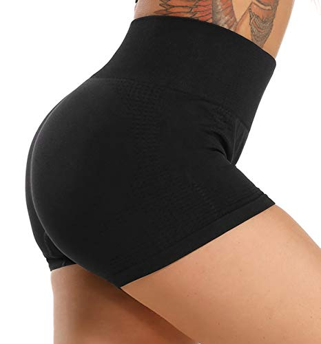 FITTOO Leggings Pantalones Cortos Deportivo Cortos Correr Gimnasio Mujer #3 Negro M
