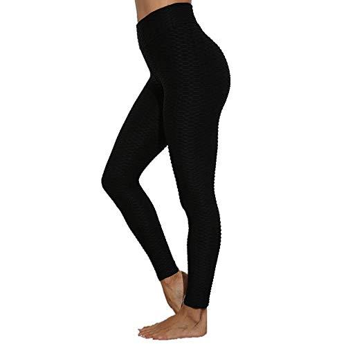 Yoga de Cintura Alta Fitness Gym Leggings Mujeres Medias de energía sin Costuras Entrenamiento Correr Ropa Deportiva Pantalones de Yoga Hollow Sport Trainning Wear Negro