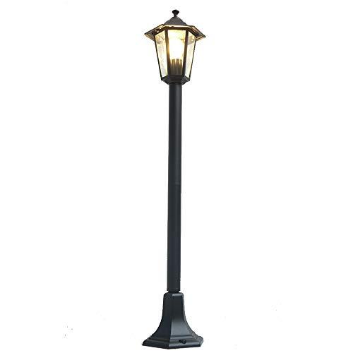 Außen-Garten-Steh-Leuchte-Lampe KINGSTON schwarz IP44 Aluminium Druckguss Wege-Straßen-Laterne-Leuchte-Lampe