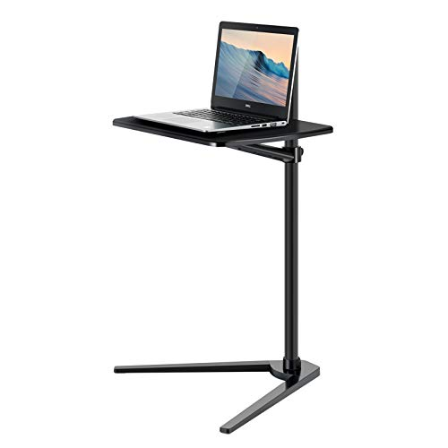 Viozon Floor Stand for Laptop Aluminum Height Adjustable Table for Bed Sofa, Upgraded and Reinforced Chassis,Applicable to All Laptop Notebook Tablets Pad Projector Camera (Black-c)