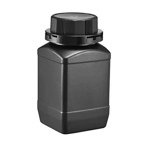 sourcing map Kunststoff-Reagenzflasche, 500 ml, breite Öffnung, für Proben, Versiegelungsflüssigkeit/feste Aufbewahrungsflaschen, schwarz, 5 Stück