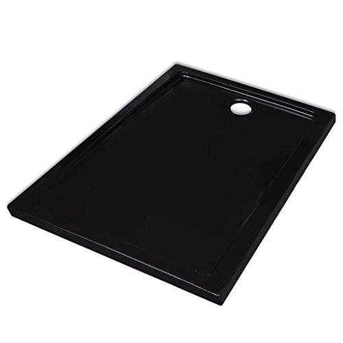 vidaXL Base de chuveiro retangular ABS 70 x 90 cm preto