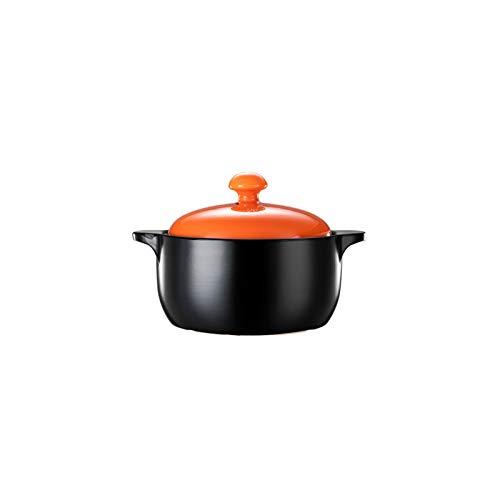 Olla de cerámica al vapor Cacerola de cerámica multifuncional Cacerola resistente al calor resistente al calor con mango dual Adecuado para uso doméstico Herramientas de cocina 4L / 6L Olla con Tapa