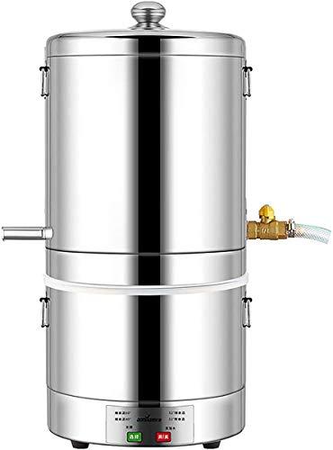 ZHBD Destilador De Alcohol De Agua Completamente Automático De 15 L / 3 GAL, Kit Casero De Caldera De Elaboración De Vino De Licor De Luna De Acero Inoxidable 304 para Whisky Brandy,10L
