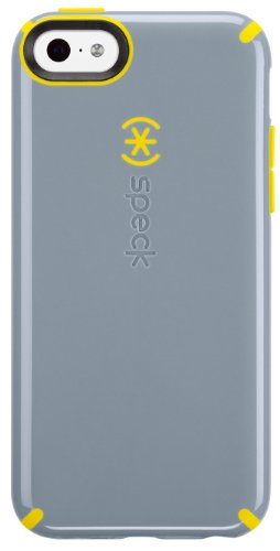 Speck CandyShell Clip-On Case Cover for iPhone 5C - Nickel Grey/Caution Yellow