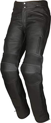 Modeka Leren damesbroek HELENA LADY laarzen broek zwart lederen stretch beschermers Kurz zwart