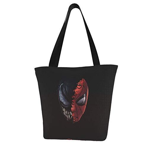 Spider and Art Totes Carry Bag Women's Shoulder Handbags Big Capacity Shopping Bag Canvas Handbags Casual Ladies for Shopping