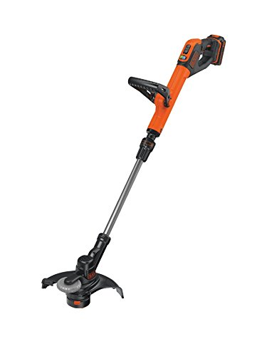 BLACK+DECKER STC1820PC-GB Cordless 28 cm String Grass Trimmer 2.0Ah Lithium Ion Battery, Orange
