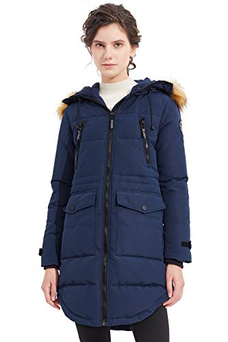 Orolay Chaqueta de Plumas Engrosada para Mujer Abrigo Acolchado de Invierno Abrigado Armada Large