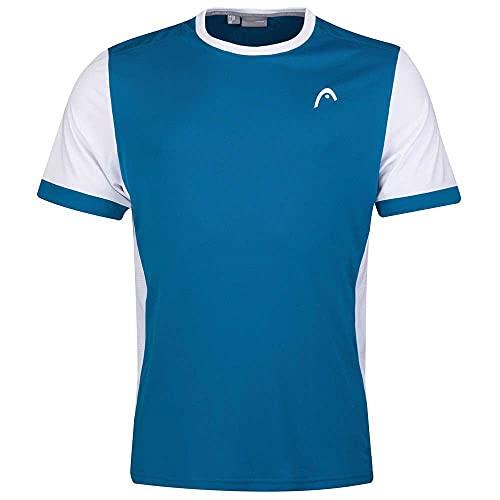 Head T-Shirt Boys Davies-Camiseta para niño, Azul y Blanco, XL para Hombre