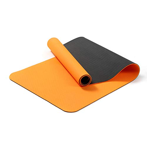 Jacqu Thicken Yoga Mat Anti-Slip Sport Pad Odorless for Fitness Pilates Ejercicio TPE 6 mm
