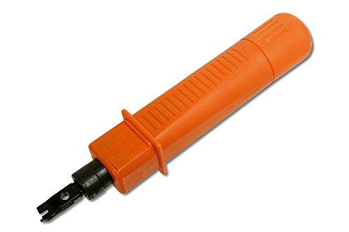 DIGITUS LSA Auflegewerkzeug - Terminal Block Typ 110 - Keystone Jack - Ausziehhaken - Entriegelungsklinge, Orange