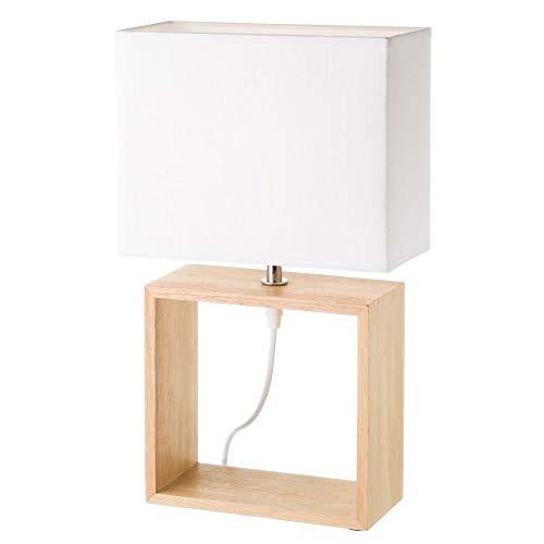 Lámpara de sobremesa de madera blanca nórdica para salón Fantasy - LOLAhome