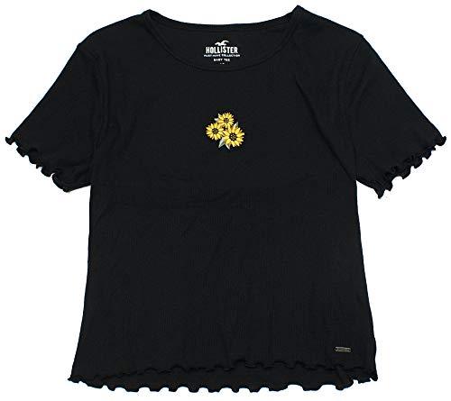 Hollister Women's Colorblock Crop Easy Fit Flattering Lightweight T-Shirt HOW-10 (Small, 1513-900)