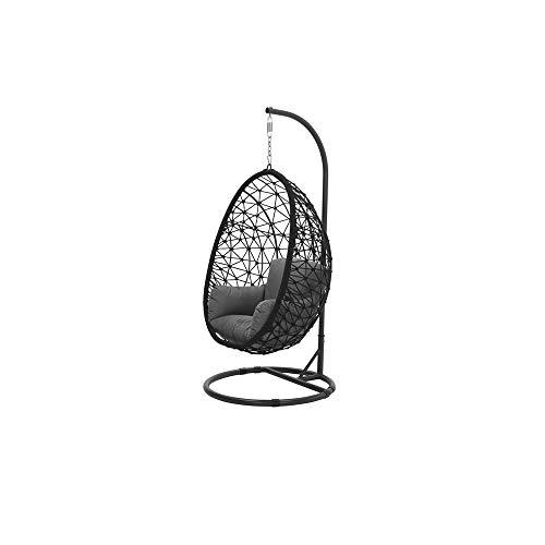Garden Impressions Panama stoel, zwart/lichtgrijs