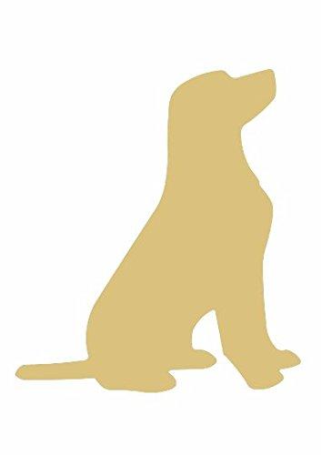 "Dog Cutout Unfinished Wood Animal Everyday Decor Dog Lover Door Hanger MDF Shape Canvas Style 1 (12"")"