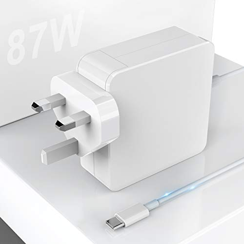 87W USB C Charger Power Adapter Compatible with Mac Book Pro/Air, 87W Power Delivery Fast Charging Laptop PD Charger for Mac Book Pro 2016 Late, MacBook Air 2018 Late and more Type C Devices