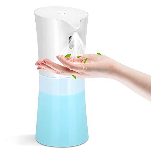 KaKille Dispensador Automático de Alcohol,500ml Máquina Dispensadora de Desinfectante sin Contacto de para Baño, Hotel, Hospital, Escuela
