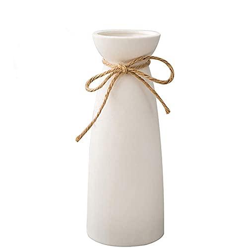 HHOSBFSS Blanco Moderno Decoración para El Hogar Florero De Cerámica Matte Design, para Sala De Estar, TV Refrigerador De Vino, Objetos Decorativos Creativos. Adornos De Jarrón