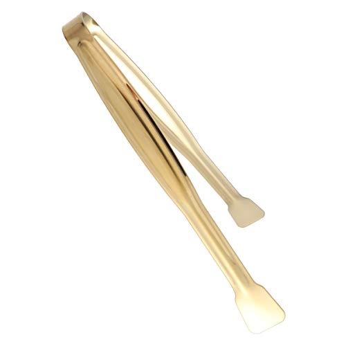 BESTONZON 4 Stücke 15 CM Edelstahl Mini Lebensmittel Servierzange Praktische Eiswürfelzange Brot Clip Home Bar Liefert (YH54-B, Golden)