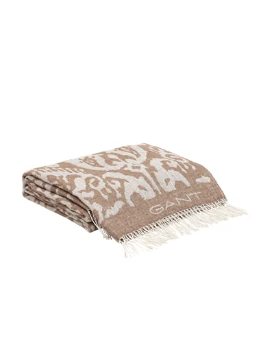 GANT Paix Tagesdecke Farbe Light Taupe 130x180cm Plaid Fransen Muster