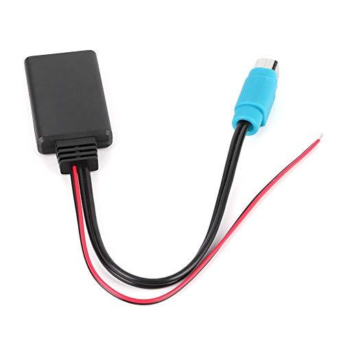 Adaptador Bluetooth para coche Cable de audio auxiliar para KCE 8209 237B Cable de audio inalámbrico apto para Alpine CDE 8209, W203Ri IDA X303 X305 X301