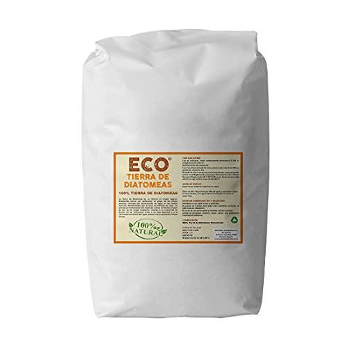 ECO Tierra de Diatomeas Terra di diatomee 20 kg micronizzato | Commestibile E551c | 100% Naturale e Biologico | Naturale Contro Gli Insetti