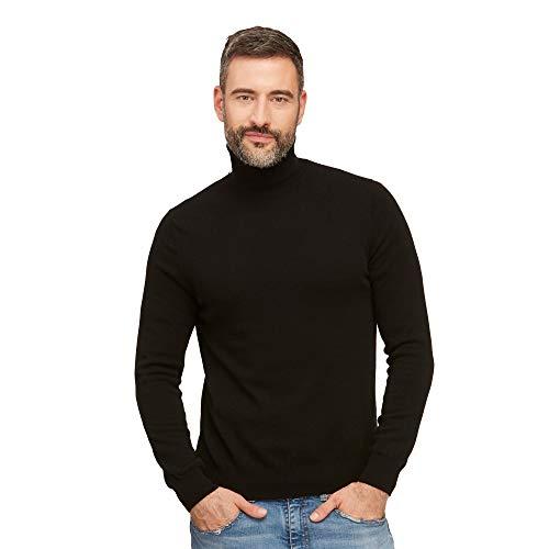 Coltrui pullovers heren 100% wol kleur Zwarte