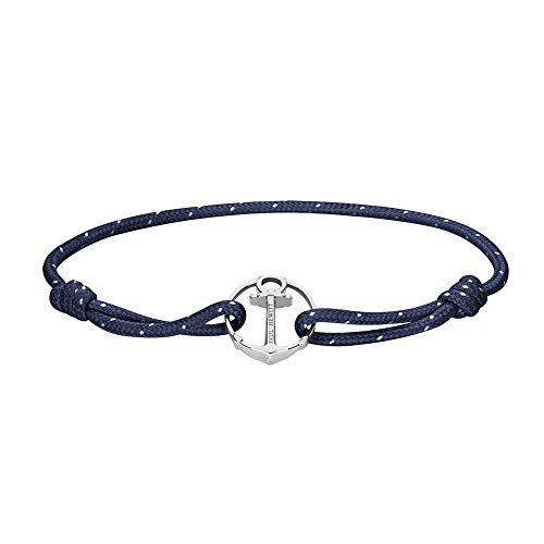 PAUL HEWITT - Bracciale unisex con ancora, in acciaio INOX, colore: argento, blu navy., cod. PH002175