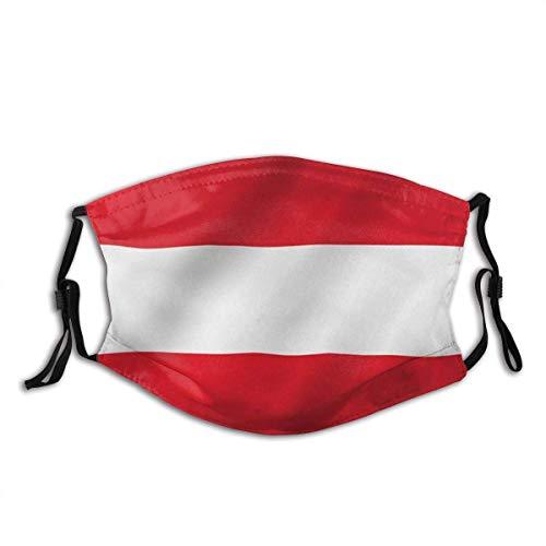 Unisex Staubdichter,Gesichtsdekorationen,Für Die Persönliche Gesundheit,Mundschutz,Gesichtsbedeckung,Österreich Flagge Die Republik Österreich Flaggen