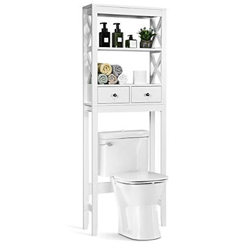 COSTWAY Estante para Inodoro WC Ducha Mueble de Baño