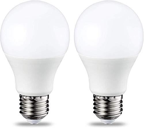 AmazonBasics E27 LED Lampe, 9W (ersetzt 60W), warmweiß, dimmbar - 2er-Pack