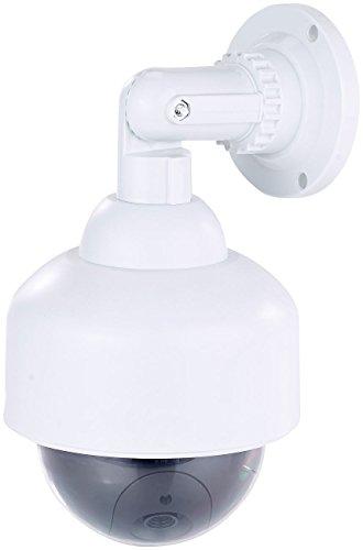 VisorTech Überwachungskamera Dummy: Dome-Überwachungskamera-Attrappe, durchsichtige Kuppel, Wandhalterung (Dummy Überwachungskamera außen)