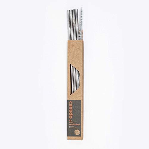 Canudos Inox Reto - Kit com 4 Unidades Reto Beegreen