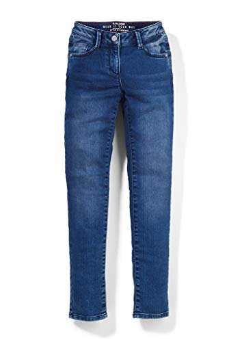 s.Oliver Mädchen Slim: 5-Pocket-Stretchjeans dark blue 140.REG