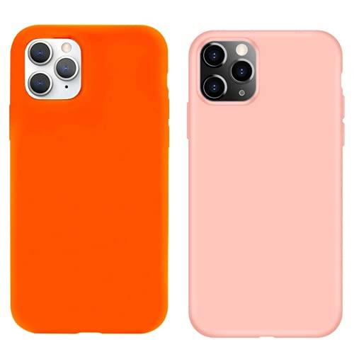 (Pack 2) Fundas compatibles con iPhone 11 Pro MAX de Silicona liquida antigòlpes | Carcasa Protectora adsorbe caidas para la proteciòn de tu Apple. Case