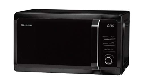 Sharp R664KM Digital Microwave with Grill, 20 Litre capacity, 800W, Black