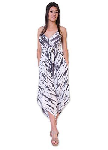 Overall broek met dragers zomercombinaties - broek latzbroek dames jumpsuit casual etno-stijl Tie & Dye