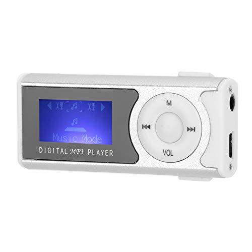 Goshyda Reproductor de MP3, Reproductor de música portátil Deportes Mini Clip USB Pantalla LCD Reproductor Multimedia de 16 GB con diseño de Clip Trasero portátil, para Deportes al Aire Libre