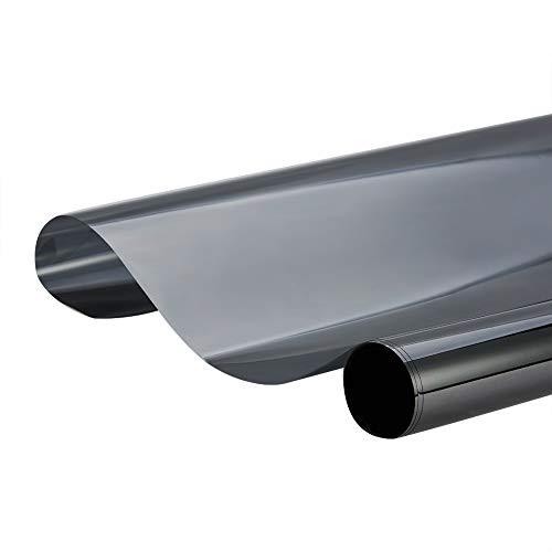 ATMOMO 15% VLT 2MiL película de privacidad para ventanas de color negro, película de protección UV para coche, casa, oficina, cristal 0,5 x 3 m
