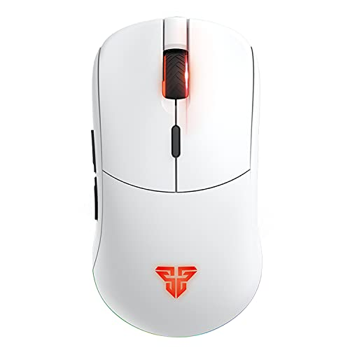 FANTECH Helios XD3 Symmetrical Wireless RGB Gaming Mouse, 16,000 DPI 6 Programmable Buttons Professional Grade Small Size Mouse, White