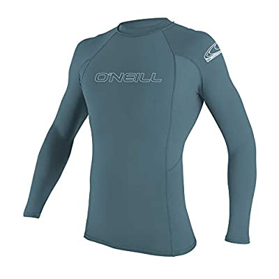 O'Neill Wetsuits Men's Basic Skins 50+ Long Sleeve Rash Guard, Dusty Blue, XL
