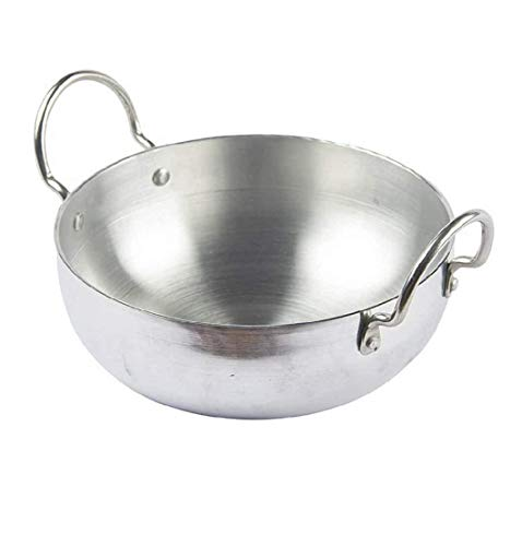 TMT Aluminium Induction Base Kadai I Aluminium Kadai | Frying Pan I Size-12,Color-Silver,Material-Aluminium