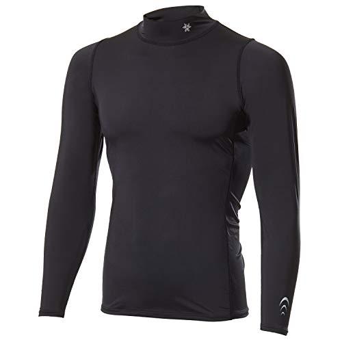 [シースリーフィット] インナーシャツ クーリングタートルネックロングスリーブ メンズ 接触冷感 吸汗速乾 UVカット ブラック M