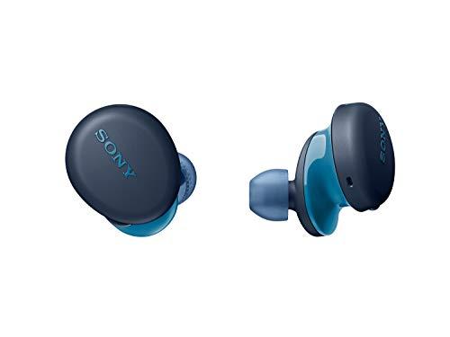 Sony WFXB700 - Auriculares True Wireless (Totalmente inalámbrico, Bluetooth, Extra Bass, Micro para Llamadas Manos Libres, 18h de batería, Resistencia IPX4), Azul (WFXB700L)
